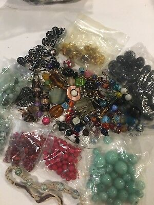 BIG SALE Huge Lot Of Vintage To Now Glass & Crystal Beads Lot #3