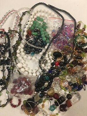 Huge Lot Of Vintage To Now Glass & Crystal Beads Lot #4
