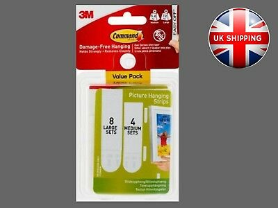 3M Command Strips - Medium and Large Picture Hanging Strips Value Pack 17209