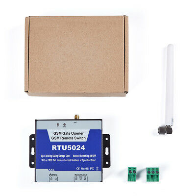 RTU5024 2G GSM Gate Opener Relay Switch Wireless Remote Access Control for GSM