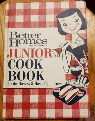 Vintage Better Homes and Gardens Junior Cook Book 1963 Kids Cooking Baking