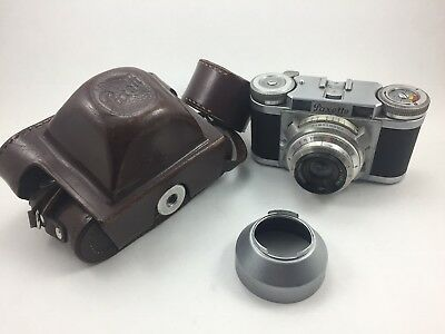 Brown Paxette II 2 camera Staeble-Werk Kata 1:2,8/45 Germany 1950 Lederetui case