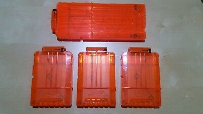 4x NERF Gun 6 and 12 Dart Magazine Clips Official Genuine Ammo Holder