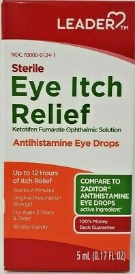 Ketotifen Fumarate Solution 5 mL Eye Itch Relief (Generic Zaditor) -Exp 03-2020
