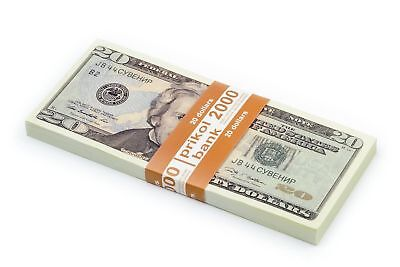 NEW PROP MONEY 20$ Dollars bills, Play, Copy, Double-Sided Printing for Movie
