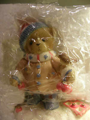 Cherished Teddies Figurine ~ Colton 4010085 Share Winter Wishes With All  New