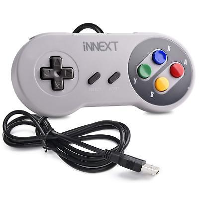 USB Wired Super NES SNES Controller Game Pad Joystick for PC MAC Raspberry Pi US