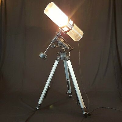 Upcycled Telescope Tripod Floor Lamp Handmade Contemporary Steampunk Industrial