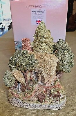 David Winter Cottage HERMITS HUMBLEHOME 1985 with Original Box & COA