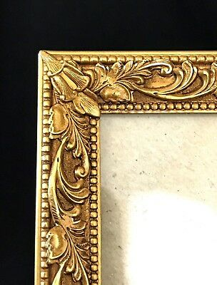 Vintage Ornate Solid Brass Rococo Leaf Picture Photo Frame 8'' x 10''