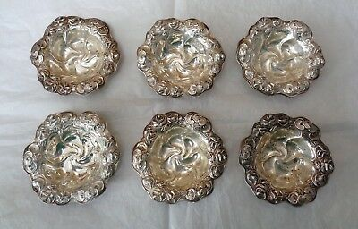 6 William B KERR 1890S Art Nouveau STERLING Silver NUT DISH Water Lily Decor
