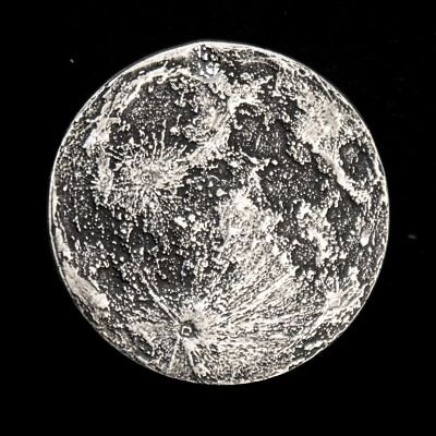 Blood Moon - Supermoon 1 oz .999 Silver Antiqued Worry, Gift Or Reminder Coin