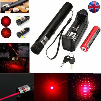 303 Pointer Red Laser Lazer Pen Beam Light Adjustable Focus 532nm <1mw Red UK