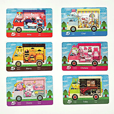 Animal Crossing New Leaf x Sanrio Series Custom Made 6PCS PVC NFC Cards for 3DS