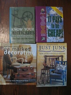 Lot of 4 Hardcovers, Flea Market Decorating, Know Your Antiques, Junk Furniture