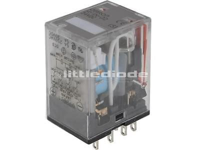 MY4N-D2-24DC Relay electromagnetic 4PDT Ucoil24VDC 5A/220VAC 5a/24VDC OMRON