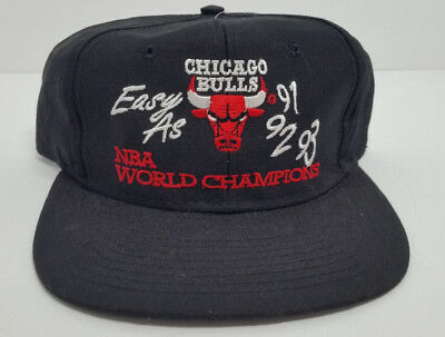48a61b94afb CHICAGO BULLS THREE Peat Hat 91 92 93 Snapback 3peat Jordan -  29.99 ...