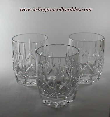 """💥 WATERFORD Signed Crystal ☆ 4 1/8"""" WESTHAMPTON Double Old Fashioned ☆ Set of 3"""