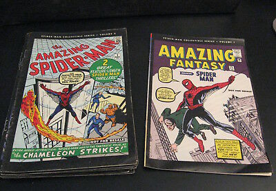 BIG Lot of *17* SPIDER-MAN COLLECTIBLE REPRINTS 1-18 (no 11) Early Spidey! FN/VF