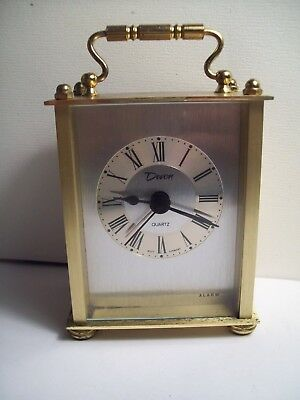 "Rare Vintage ""Devon"" West German Desktop Quartz Alarm Clock in Working Condition"