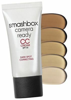 "SmashBox Camera Ready CC Cream SPF 30 Dark Spot Correcting "" Light "" New in Box"