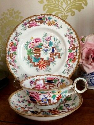 Antique Minton Chinese Tree Tea Cup & Saucer 2067 Pre 1842 + Luncheon Plate