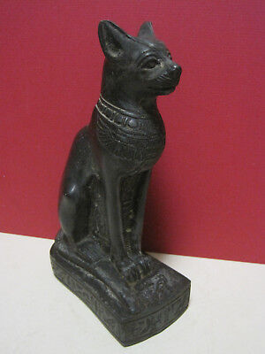 Egyptian Stone Type Figure of Ancient Cat well designed with sticker on bottom