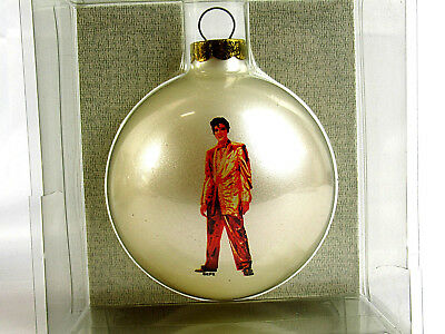 Elvis Presley Glass Classic Collectors Christmas Ornament Ball Made In USA - NEW