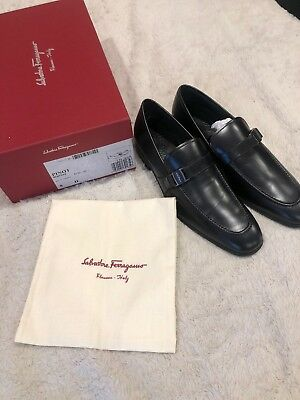 fa1631eb5d0 SALVATORE FERRAGAMO PINOT Mens Suede Loafers Shoes 8 D(M) US Made in ...