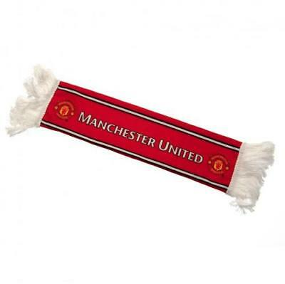 Manchester United FC Official Mini Scarf Car Hang Up With Rubber Suction Pads