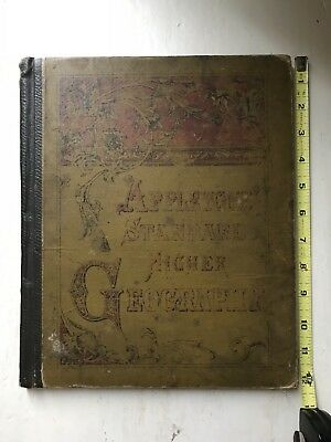 Antique Appleton's Standard Higher Geography Textbook From 1881 Color Maps