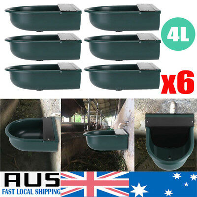 6X Automatic Stock Water Trough Sheep Dog Chicken Horse Cow Auto Fill Drink Bowl