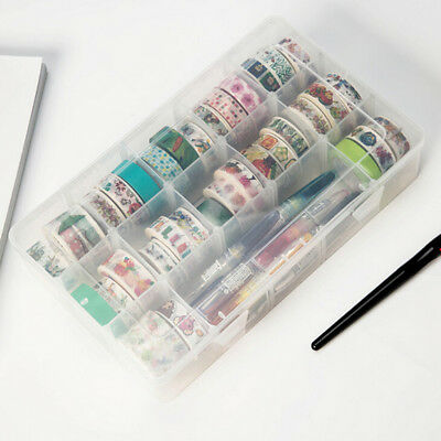 transparent washi tape box stationary storage box washi tape organizer boxAB