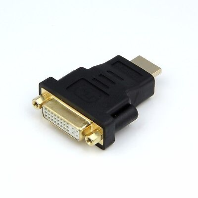 DVI 24+5 Female  to HDMI Male Adapter Converter Connector for PC Laptop HDTV TV