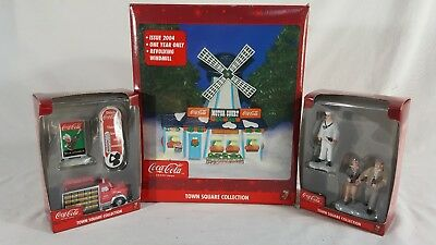 Coca Cola Town Square Collection Lot Revolving Windmill Home For the Holiday etc