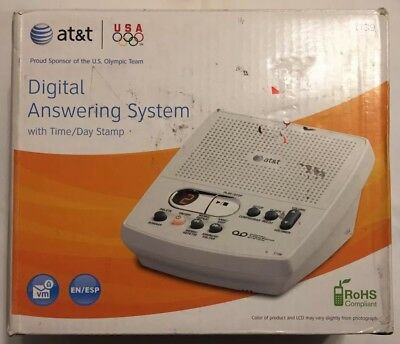 AT & T Digital Answering Machine w/Time and Day Stamp Call Screen Model 1739