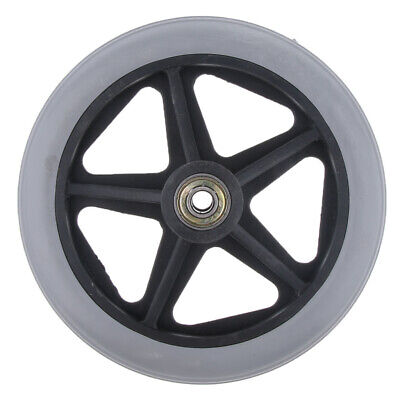 """6"""" 7"""" 8"""" Wheelchair Front Castor Wheels Replacement Part Tool 5/16"""" Bearing"""