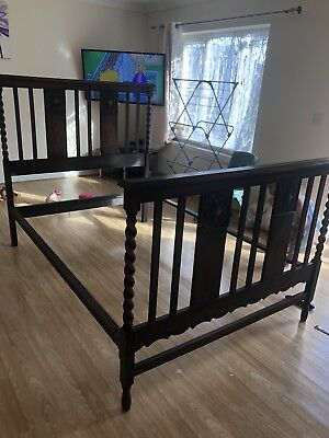 antique bed frame double
