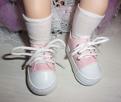"Pink Velvety Sneakers Shoes Fit 14"" My Twinn Cuddly Sisters Dolls"