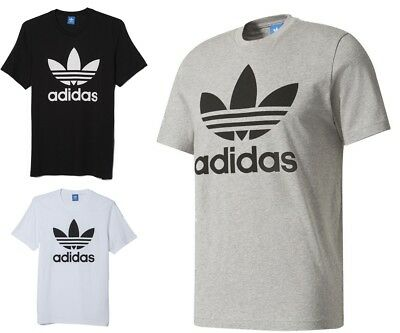 New Men's Adidas Original Authentic Trefoil Logo Tee Shirt T-Shirt Crew Neck