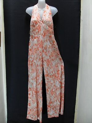 1980's Vintage Halter Neck Jumpsuit with Flared Legs.