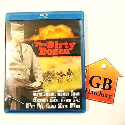 Blu-Ray Movie - The Dirty Dozen - Exciting Military Drama - Lee Jeans Marvin