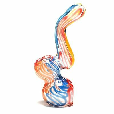 "Premium Quality Bubbler Water Pipe Approx. 4.5"" inch Hookah Glass Triple Blown"