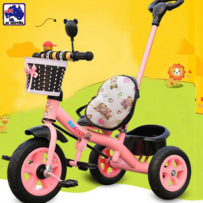 Kids Children Tricycle Bike Trike Ride-On Toys Baby Prams Push Handle GMCA86918