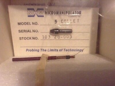 Micromanipulator Probe Holder Tip Collet .35 Microns 78-6000-R-NA New Sealed