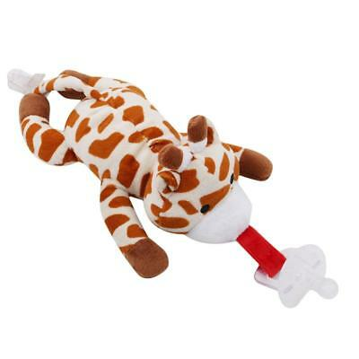 Pacifier Toy Baby Dummy Animal Plush Soother Teething Nipple JJ