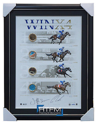 Winx Signed 2018 4 x Cox Plate Champion Official Lithograph Framed WINX4 Bowman