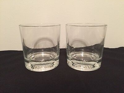 Buchanan's De Luxe Whisky Collector Glass Barware Italy 48 Set Of 2 Glasses Lot