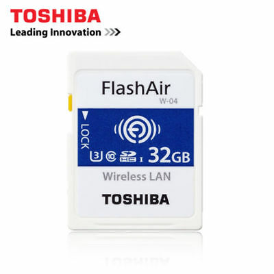 Toshiba 32GB Wifi SD SDHC memoria U3 Secure Digital WiFi FlashAir tarjeta W-04