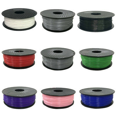 3D 1kg Printer Filament Roll PLA ABS 1.75mm Black White Blue Green Orange Red